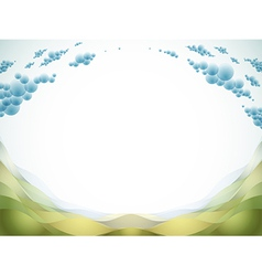 Landscape and copy space vector image