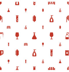 Liquid icons pattern seamless white background vector