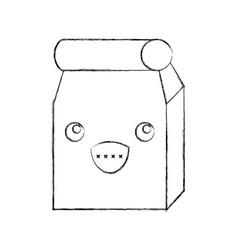 lunch bag in paper bag kawaii character vector image