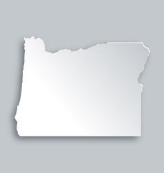 Map of Oregon vector