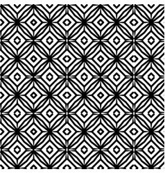 Monochrome geometric pattern background vector