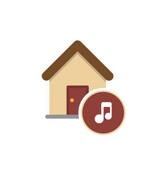music house simple logo flat logo design vector image
