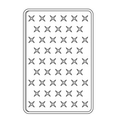 orthopedic mattress icon outline style vector image