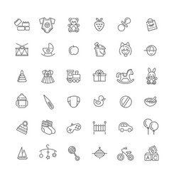 Outline line web icon set feeding and care vector