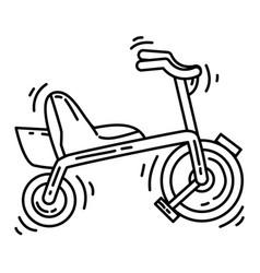 playground kids bikeplayingchildrenkindergarten vector image