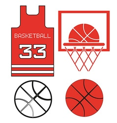 Red Basketball Objects vector