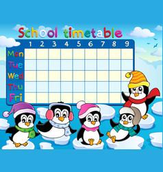 School timetable theme image 9 vector