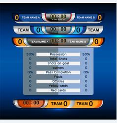 Scoreboard sport template vector