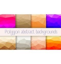 Set polygon abstrac vector image