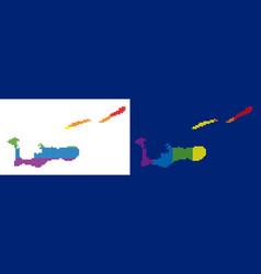 spectrum pixel dotted cayman islands map vector image