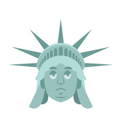 statue of liberty sad emoji us landmark statue vector image
