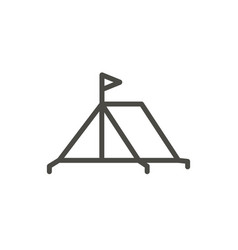tent icon line camping symbol isolated tr vector image