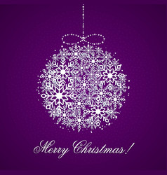 this is a background with a christmas ball vector image