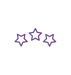 three linear score stars in circle geometric vector image