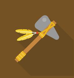 tomahawk native american axe vector image