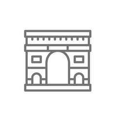 triumphal arch landmark paris france line vector image