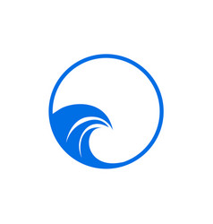 Water waves logo design template waves icon vector
