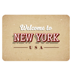 welcome to new york vector image