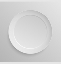White dish plate vector