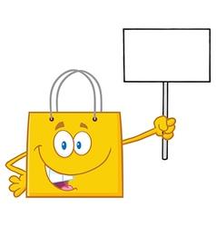 Yellow Shopping Bag Cartoon vector
