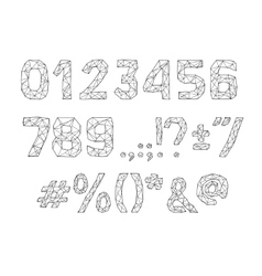 alphabet abc font Type numbers characters vector image