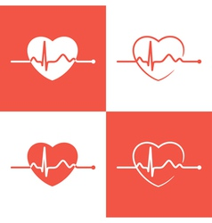 Cardiogram icons vector image
