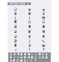 icons set Gas Station vector image vector image