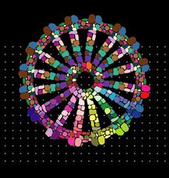rainbow gypsy wheel vector image