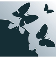 beautiful background with butterflies vector image vector image