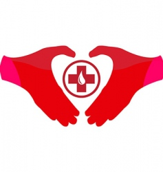 blood donation sign vector image