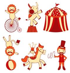 Cute circus vector image vector image