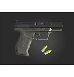 detailed hand gun vector image vector image