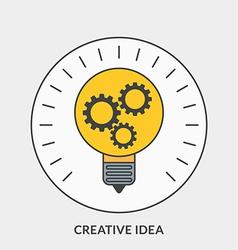 Flat design concept for Creative Idea for w vector image