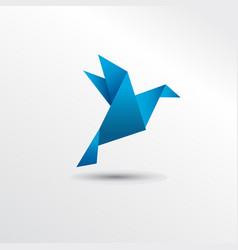 origami pigueon vector image