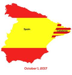 referendum spain - catalonia vector image vector image