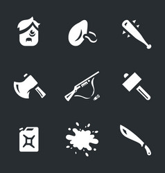 set of survival tools icons vector image vector image