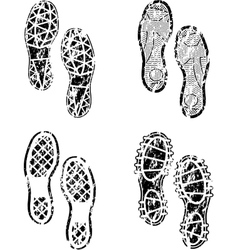 Shoes print grunge vector image