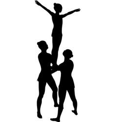 acrobatic stunt vector image