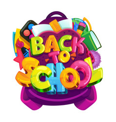 back to school isolated emblem vector image vector image