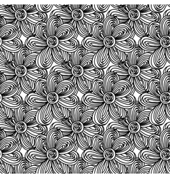 Black-white floral magic seamless pattern vector image