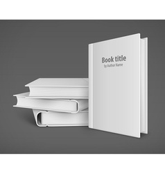 Book template with white vector image