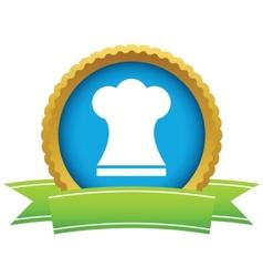 Gold chef hat logo vector image