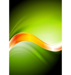 Green and orange waves vector image