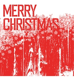 Merry christmas postcard template Isolated up side vector image