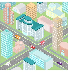 town isometric vector image