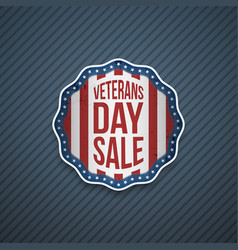 Veterans day sale usa patriotic emblem vector