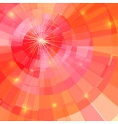Abstract shining circle tunnel vector image