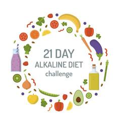 Alkaline diet challenge concept vector