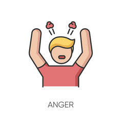 Anger rgb color icon vector