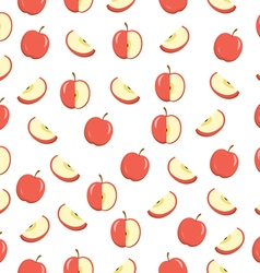 Apples seamless texture Apples background wallpape vector image